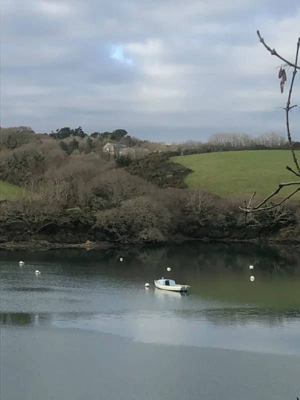 a boat on the river