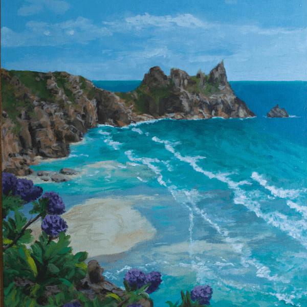 Pedn Paradise acrylic painting by Penny Sherwood