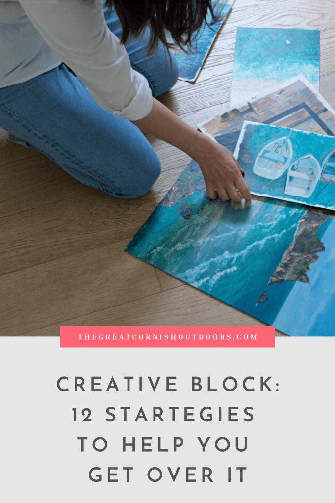 pinterest graphic for creative block strategies