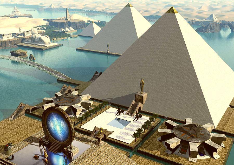 Impresión de la plataforma Atlante Giza