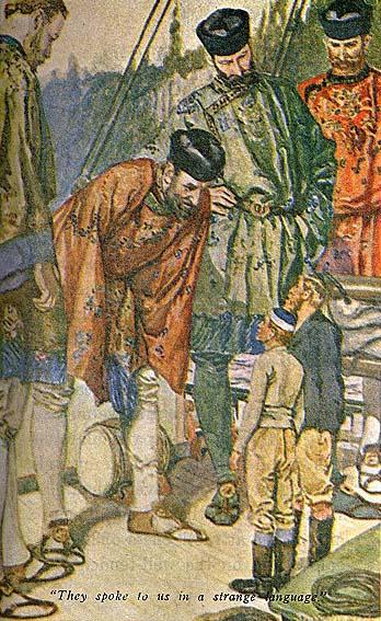 Olaf Jansen e suo padre vengono osservati con curiosità dai giganti di Agartha