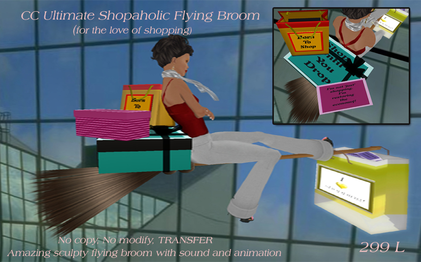 CC Ultimate Shopaholic Flying Broom