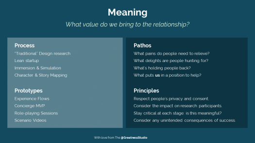 What value do we bring to the relationship?