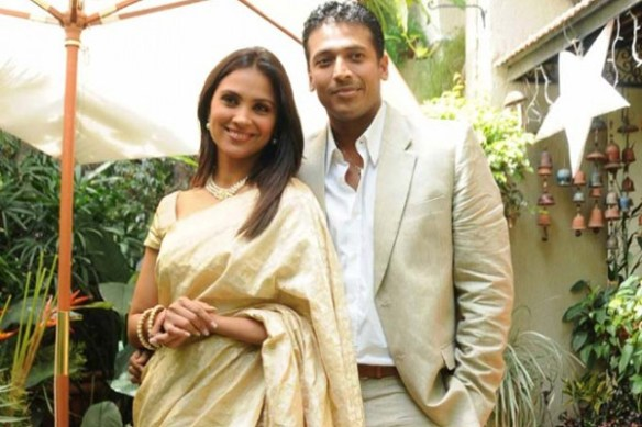Beautiful Lara with husband Mahesh