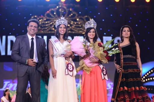 Nadine along with the winner of Indian Princess 2014, Chandni Sharma