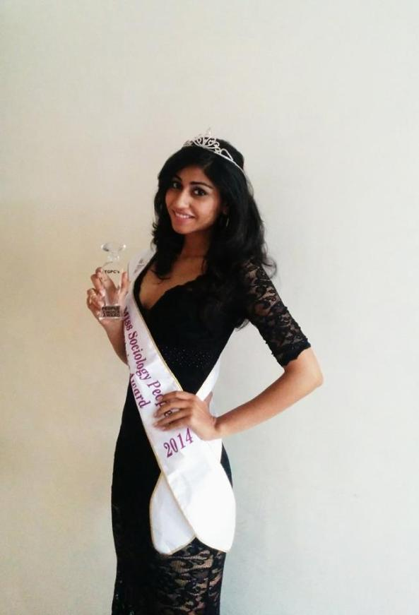Swati Nanda with TGPC People's Choice Award