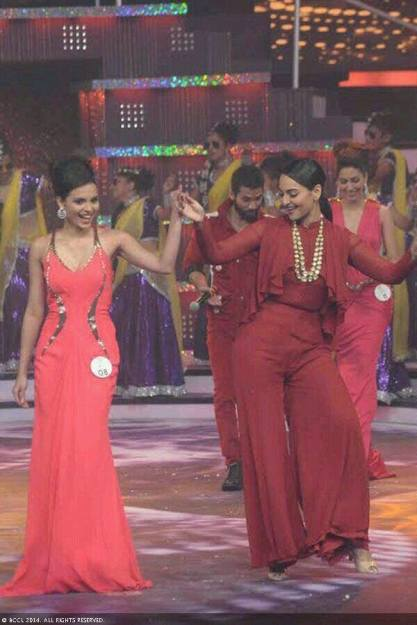 Gail Silva with Bollywood actress Sonakshi Sinha