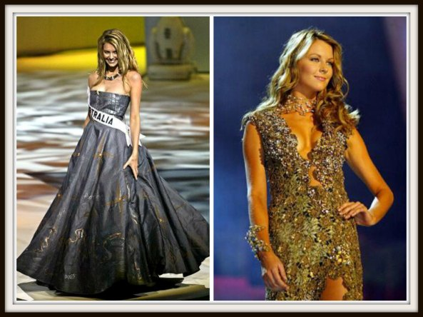 Jennifer Hawkins in National Costume and Evening gown round of Miss Universe 2004