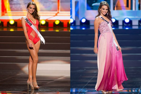 Paulina Krupinska during Swimsuit and Evening gown round of Miss Universe 2013 Preliminary.