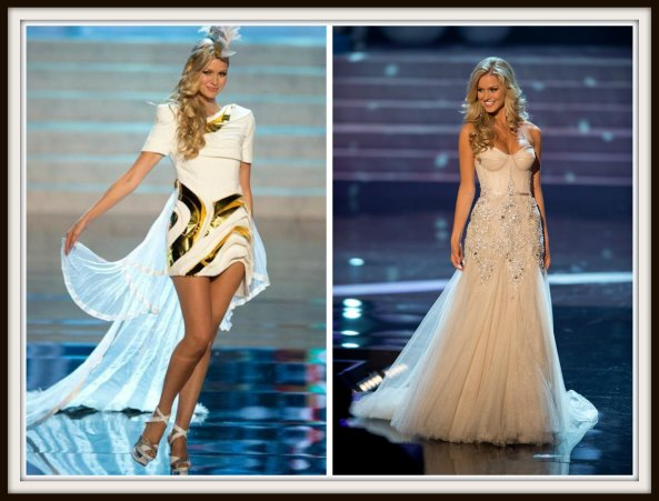 Renae Biggs in National Costume and Evening gown round of Miss Universe 2012
