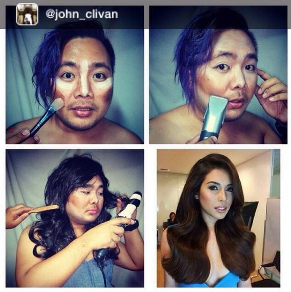 Miss Philippines 2014 Mj Lastimosa's #Makeuptransformation  created by @John_Clivan