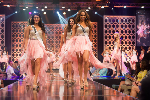 Miss Teen USA 2014 contestants during the opening round of Miss Teen USA 2014.