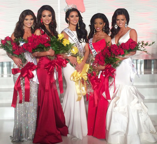 MISS TEXAS USA 2015 is Ylianna Guerra, Tropics of Texas! 1RU Alejandra Gonzalez, South Texas 2RU Brianna Webb, Lone Star 3RU Logan Lester, Harris County 4RU Peyton Saverance, Bay Area