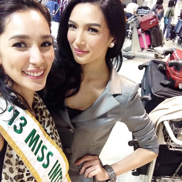Miss International 2013 ~ BEa Santiago with Miss Philippines International 2014~Bianca Guidotti