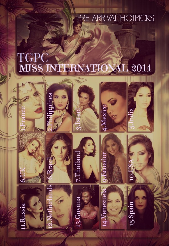 MISS INTERNATIONAL 2014 ~PRE ARRIVAL HOTPICKS