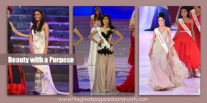 Beauty with a Purpose winners from India: Pooja Chopra 2009, Vanya Mishra 2012 & Koyal Rana 2014