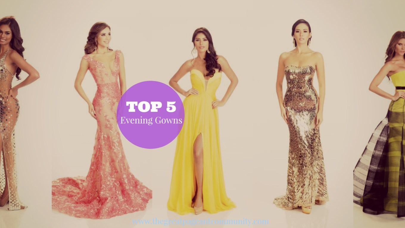 last 4 Miss Universe winners in their evening gown Portrait