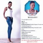 020 Tsaone Boikhutso Miss Botswana 2015 Contestants
