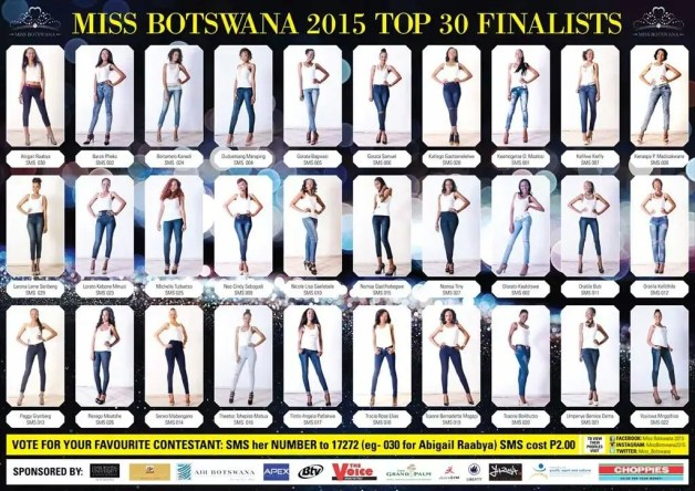 Meet Miss Botswana 2015 Contestants