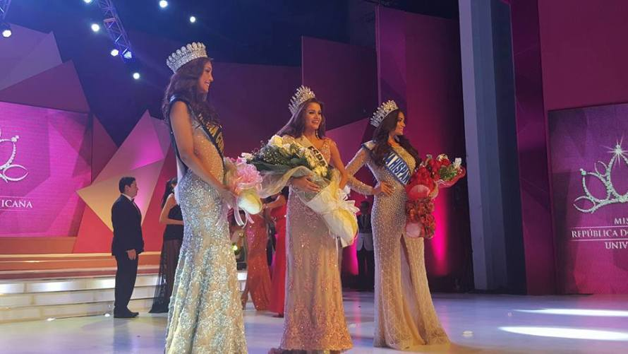 Miss República Dominicana Universo 2015 Winners:(Left to Right).Miss San Francisco de Macoris Sophinel - Reina Hispanoamericana Dominicana 2015, Miss Espaillat Clarissa Molina Contrera- Miss República Dominicana 2015 & Miss La Altagracia – Jennifer Cruz Miss Continentes Unidos Dominicana 2015