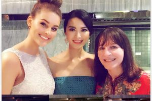 Birthday Girl Yu WenXia with Rolene Strauss & Julia Morley