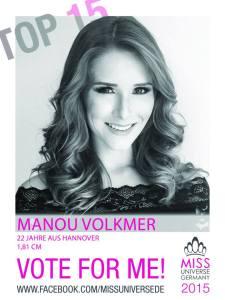 Manou Volkmer, Miss Universe Germany 2015 Contestants