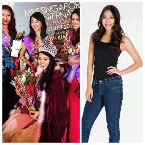 Roxanne Zhang won Miss Singapore International 2015