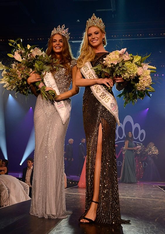 Miss Nederland 2015 winners:Miss Nederland 2015 -Jessie Jazz Vuijk (right)First Runner Up-Margot Hanekamp