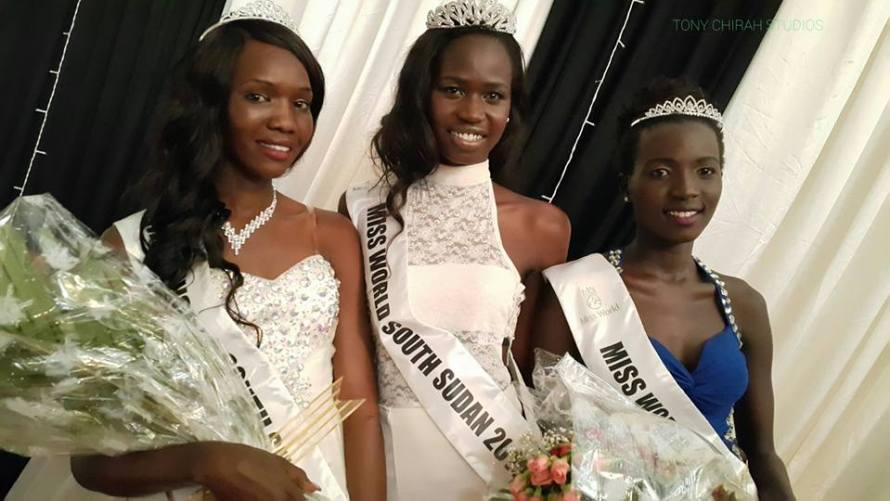 AJAA KIIR MONCHOL, 22 years old is Miss World South Sudan 2015.