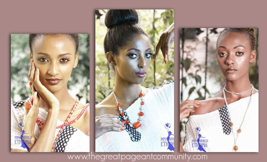 Miss World Ethiopia 2015:Kisanet Teklehaimanot. First Runner Up :Bethelhem Belay. Second Runner Up:Bethelhem Belay.