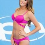 Miss Belgium-Annelies Törös during Miss Universe 2015 swimsuit portrait