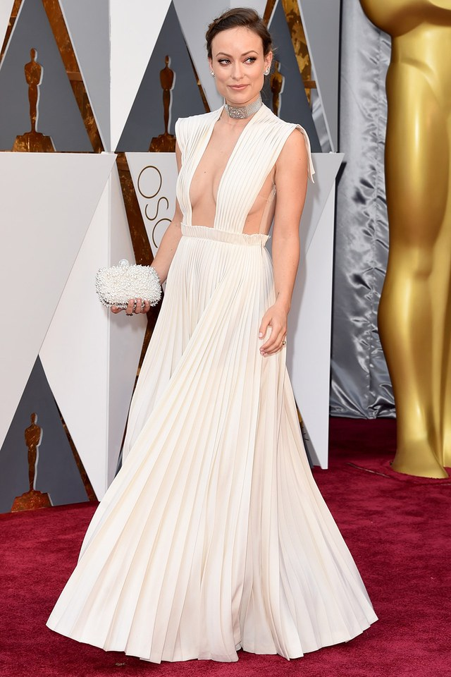Olivia Wilde in Valentino she was in our best list in Best and the worst dressed at Oscars 2016