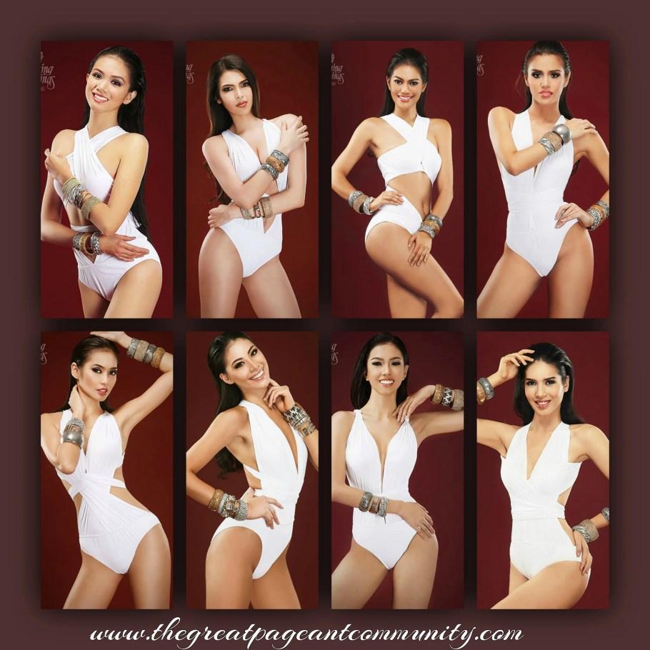 Binibining Pilipinas 2016 Contestants during Binibining Pilipinas 2016 Swimsuit portraits