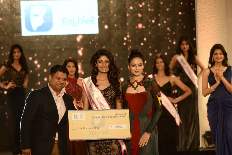 Niharika Anand won Rabbler Miss Popular at Femina Miss India 2016 Sub Contest