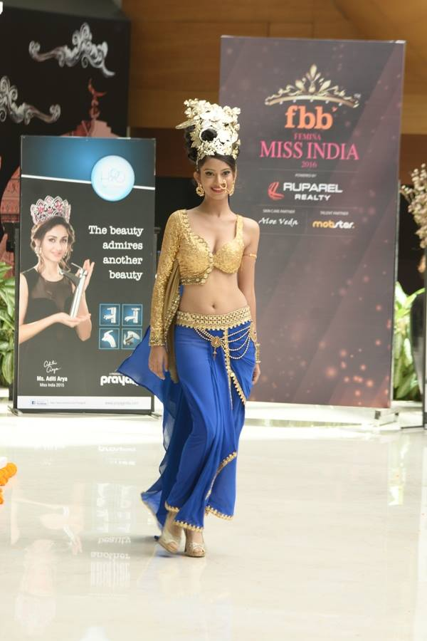 Aneesha Rane in National Costume