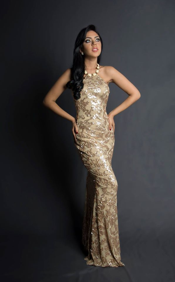 Cecilia Drouet during Miss Ecuador 2016 Evening Gown Portraits