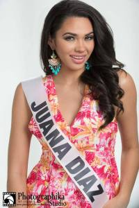 Juana Díaz is a contestant of Miss Mundo de Puerto Rico 2016