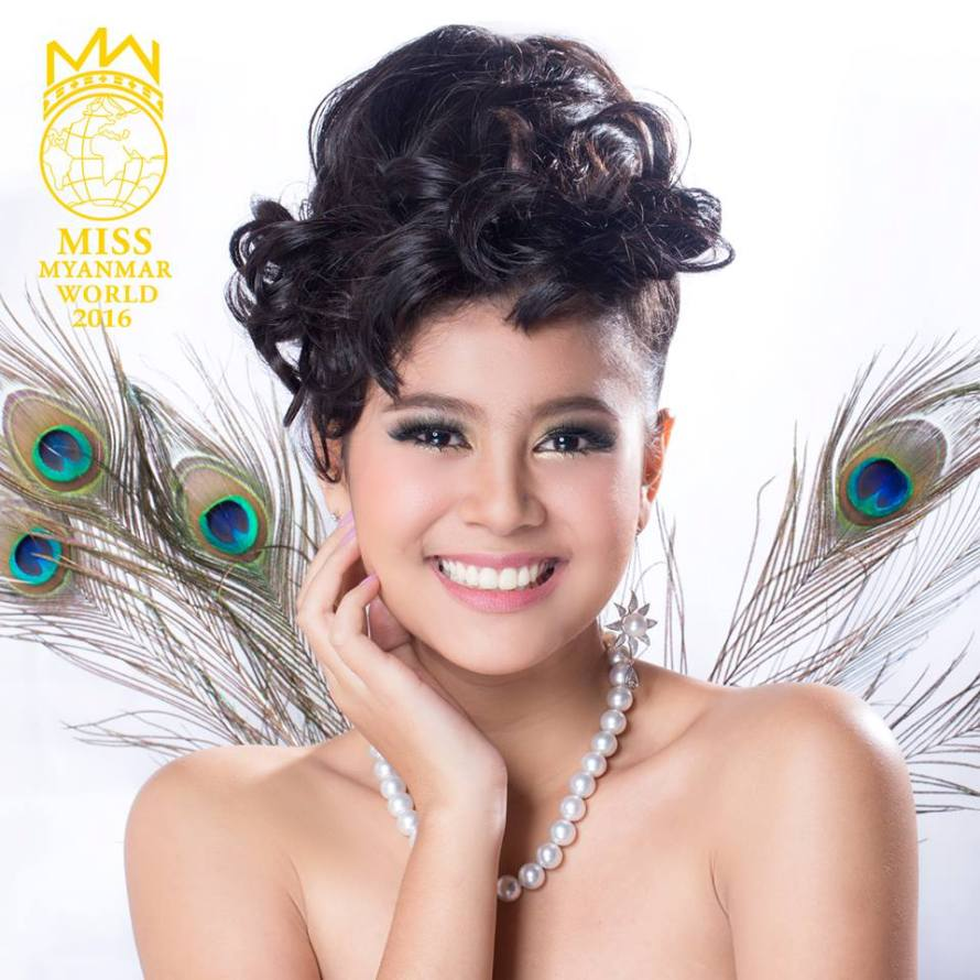Myat Thiri Lwin will represent Myanmar at Miss World 2016