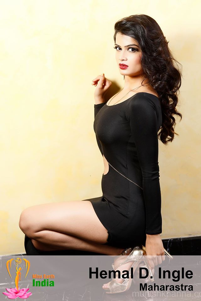 Hemal D.Ingle during Miss Earth India 2016 Official Photo shoot