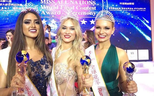 Laura Skutana from Latvia wins Miss All Nations 2016