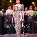 Miss Guatemala-Virginia Argueta during terno fashion show