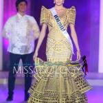 Miss Venezuela-Mariam Habach during terno fashion show