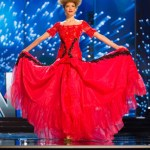 Miss Albania, Lindita Idrizi during Miss Universe 2016 National Costume presentation