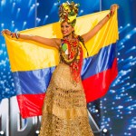 Miss Colombia,Andrea Tovar during Miss Universe 2016 National Costume presentation