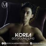 Guyeong Jung is representing Korea at Mister International