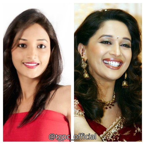 Srinidhi Shetty & Madhuri Dixit (Younger years)