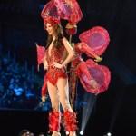Miss Uruguay,Magdalena Cohendet during Miss Universe 2016 National Costume presentation