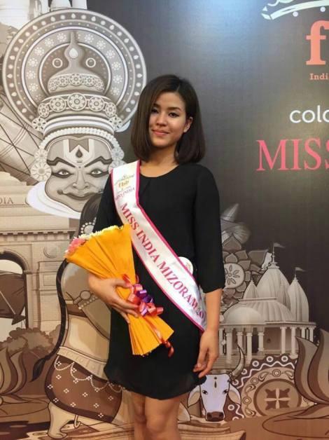 Rody H. Vanlalhriatpuii will represent Mizoram at Femina Miss India 2017