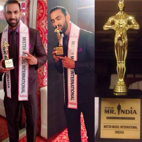 Himachal guy, Mohit Sharma wins Rubaru Mr India Model International 2017