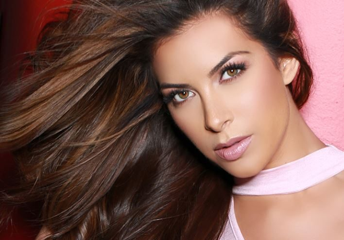 Miss Texas, Nancy Gonzalez during official photo for Miss USA 2017 pageant